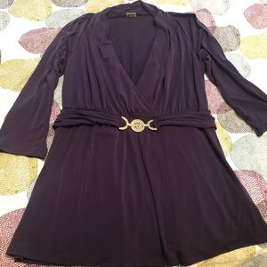 Anne Klein purple blouse